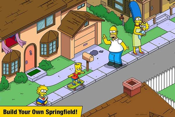 The Simpsons Tapped Out Build Springfield